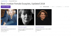 Best Croatian essayist